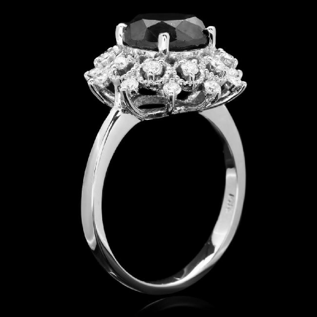 14k White Gold 2.8ct Diamond Ring - 3