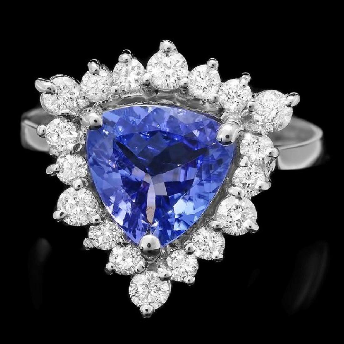 14k Gold 1.80ct Tanzanite 0.70ct Diamond Ring