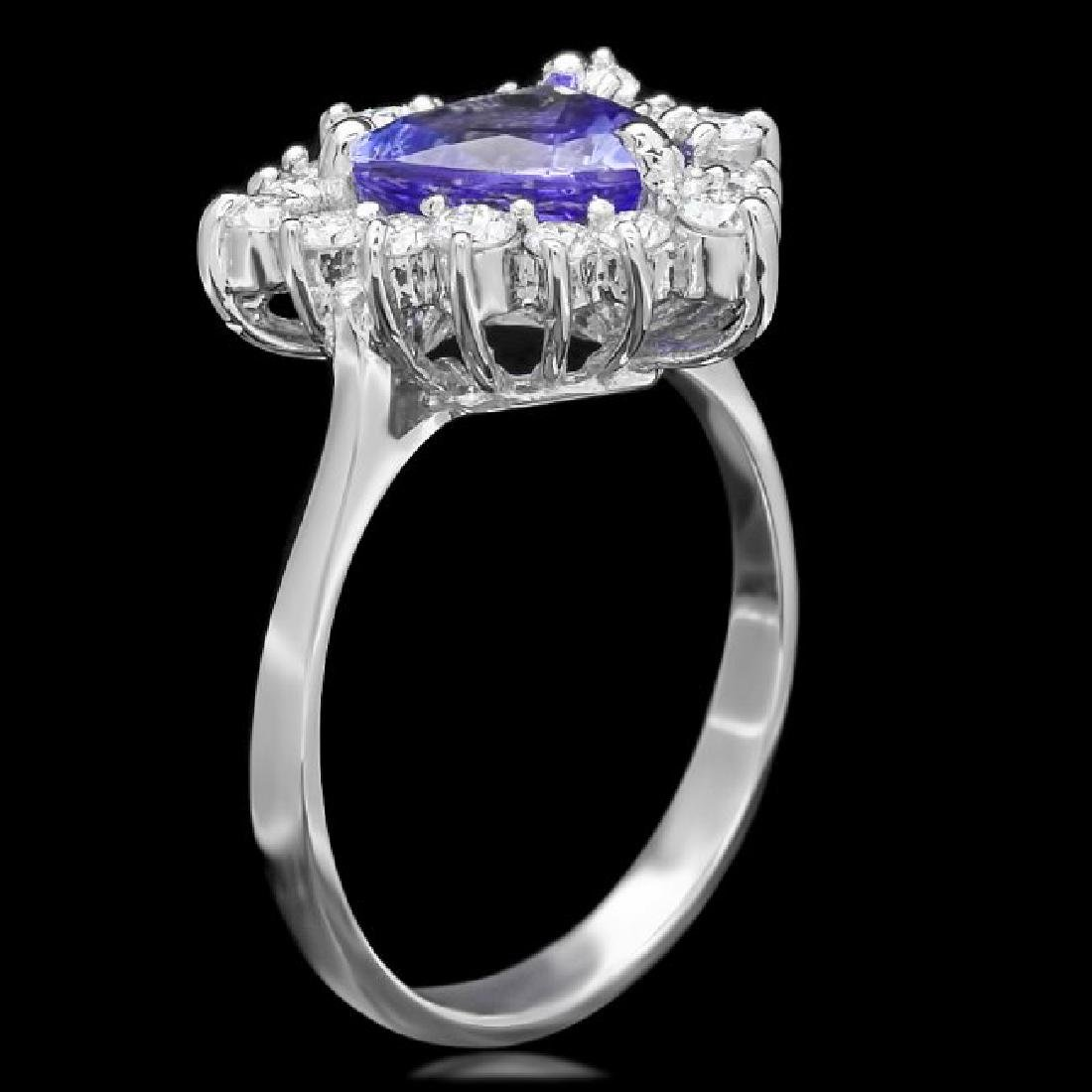 14k Gold 1.80ct Tanzanite 0.70ct Diamond Ring - 2