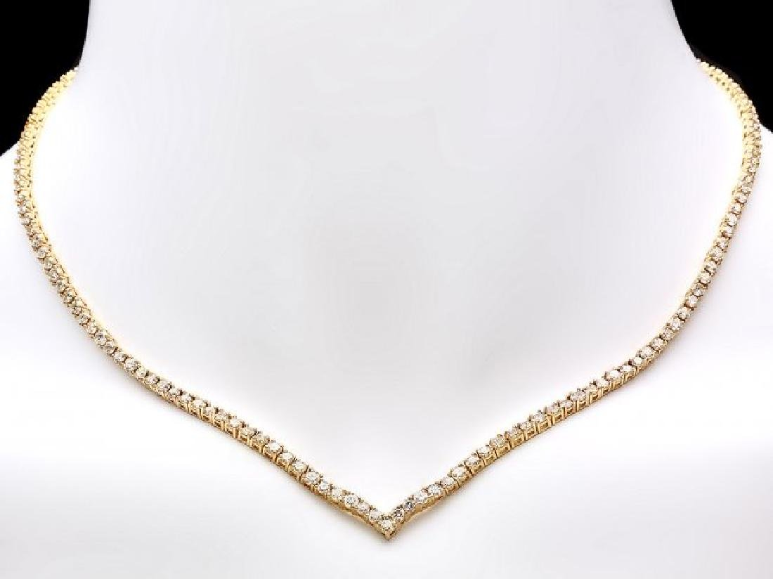 18k Yellow Gold 8.50ct Diamond Necklace - 5