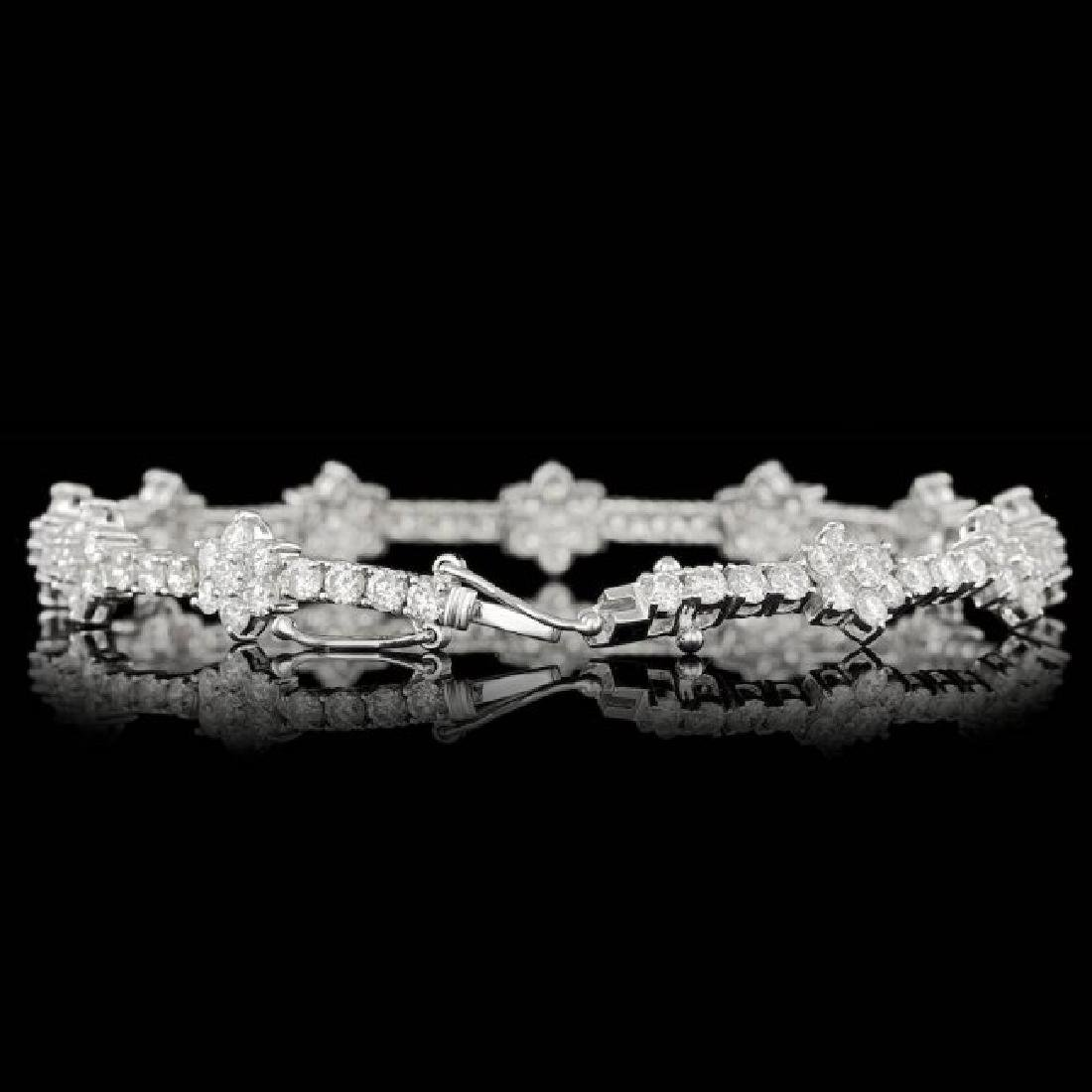 18k White Gold 6.80ct Diamond Bracelet - 2