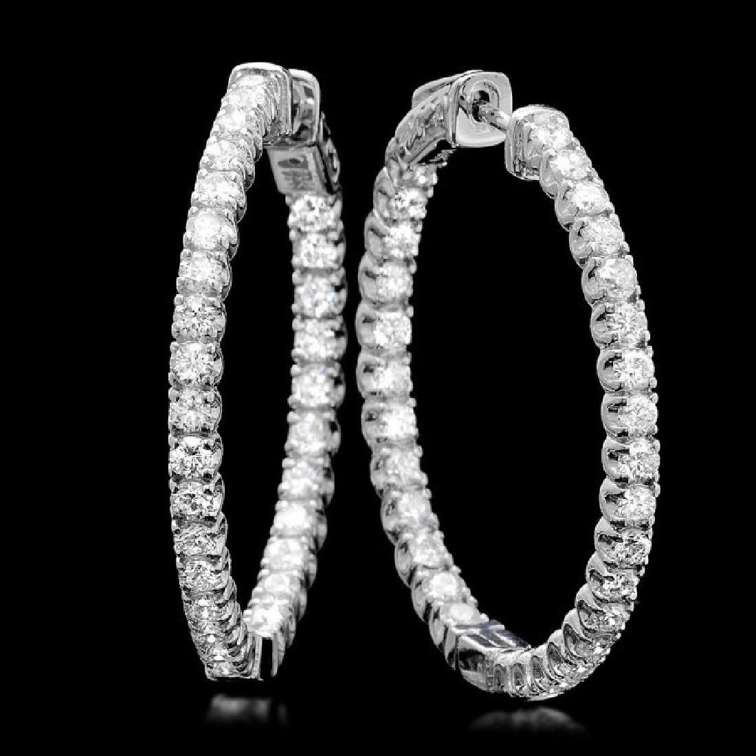 14k White Gold 2.80ct Diamond Earrings