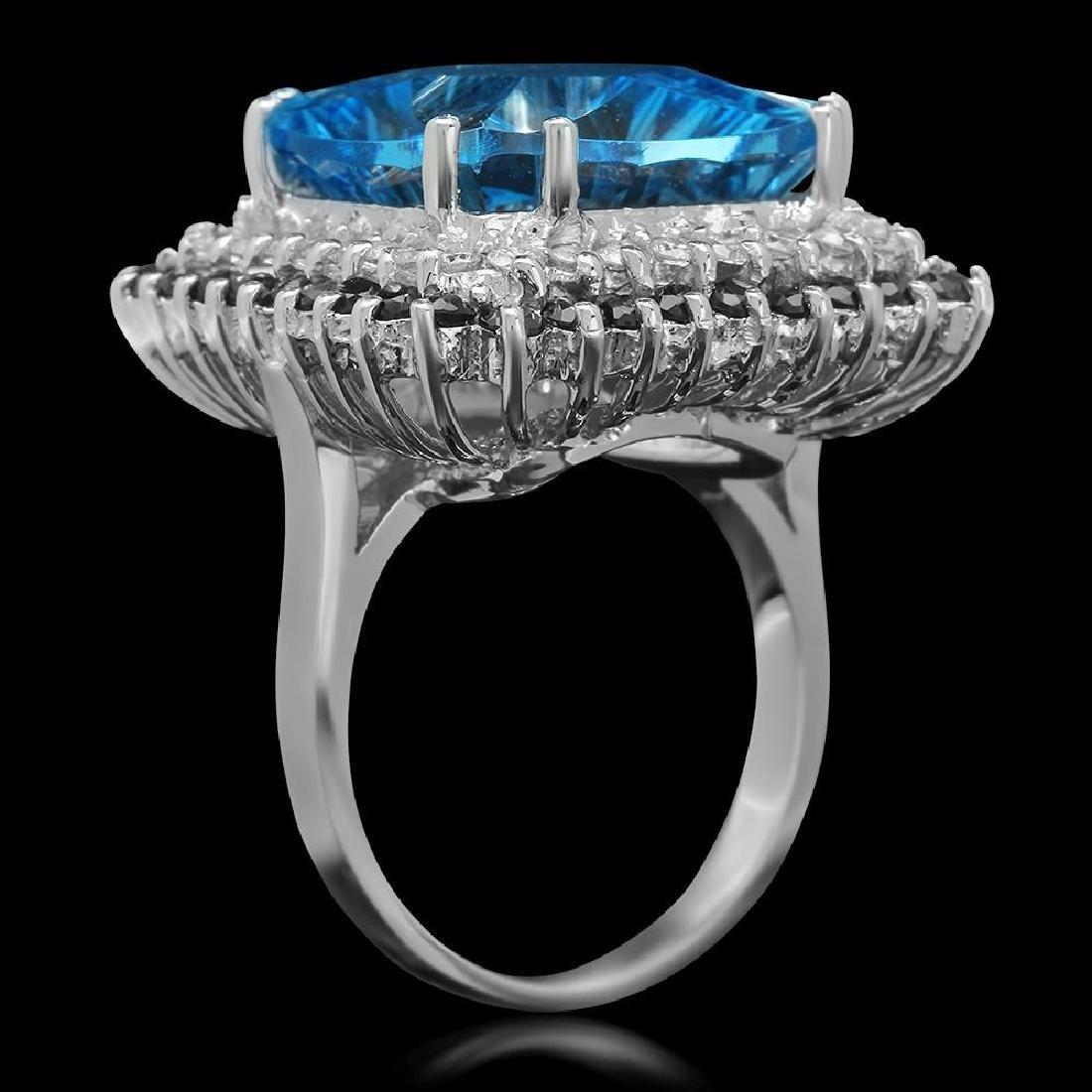 14K Gold 17.85ct Topaz 1.75ct Sapphire 0.75ct Diamond - 2