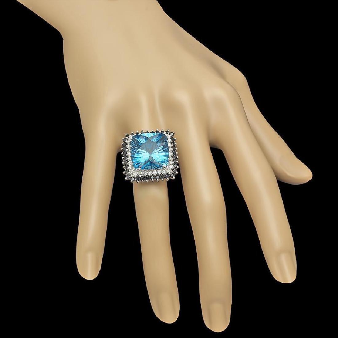 14K Gold 17.85ct Topaz 1.75ct Sapphire 0.75ct Diamond - 3