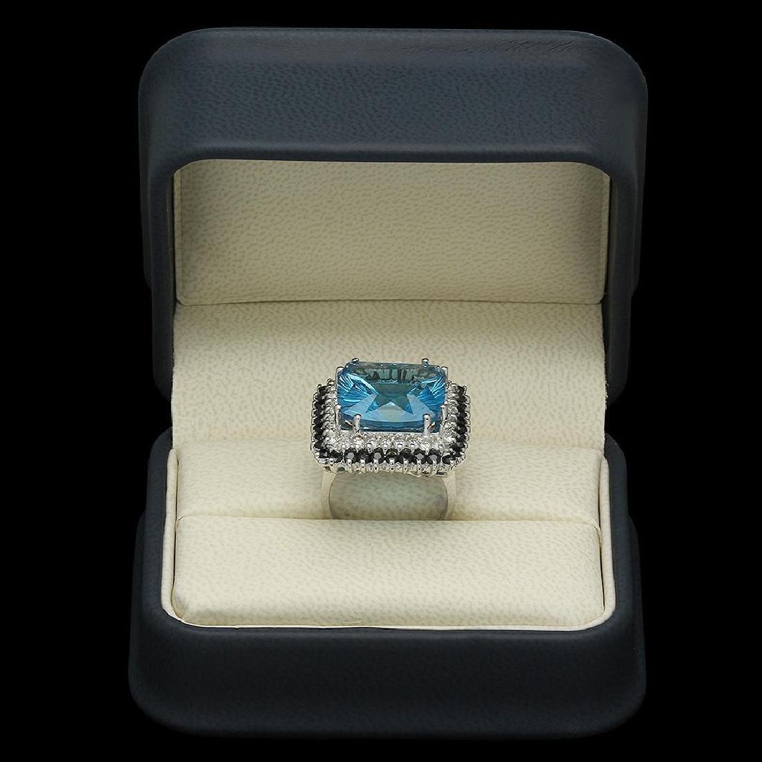 14K Gold 17.85ct Topaz 1.75ct Sapphire 0.75ct Diamond - 4