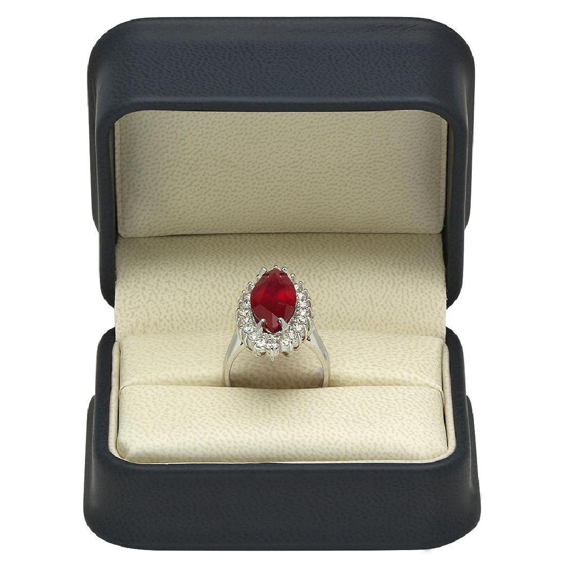 14K Gold 8.09ct Ruby 1.45ct Diamond Ring - 4