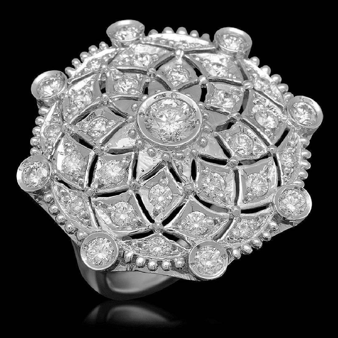 14K Gold 1.96ct Diamond Ring