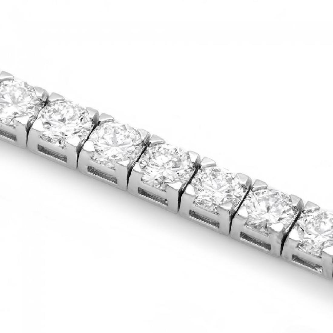 18k White Gold 9.50ct Diamond Tennis Bracelet - 2