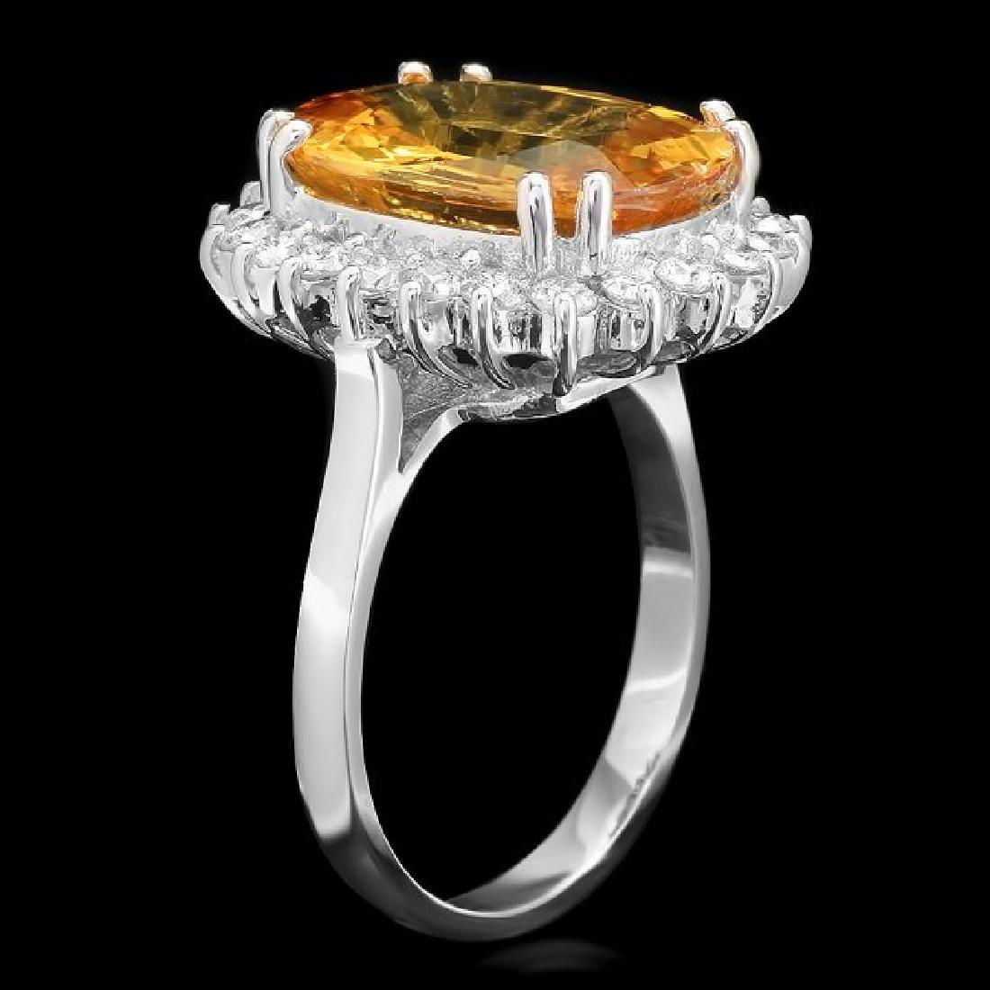 14k Gold 7.50ct Sapphire 0.80ct Diamond Ring - 2