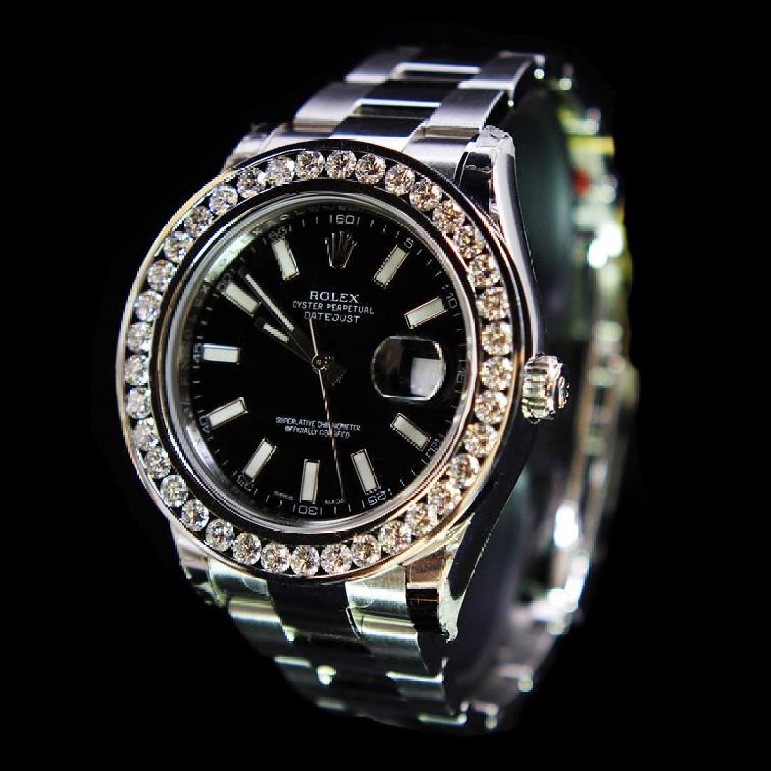 Rolex DateJust 41mm Black Index Diamond Bezel Aprox. - 2