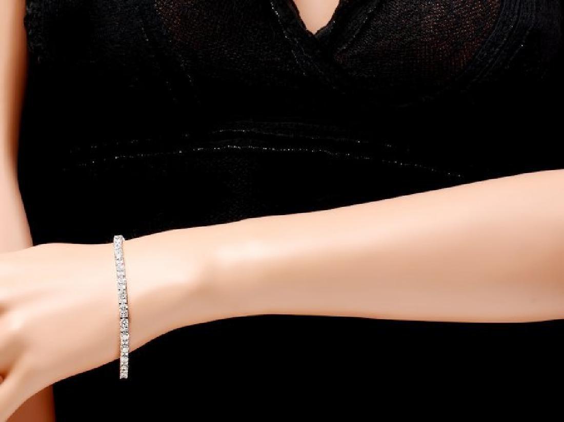 18k White Gold 8.60ct Diamond Bracelet - 4