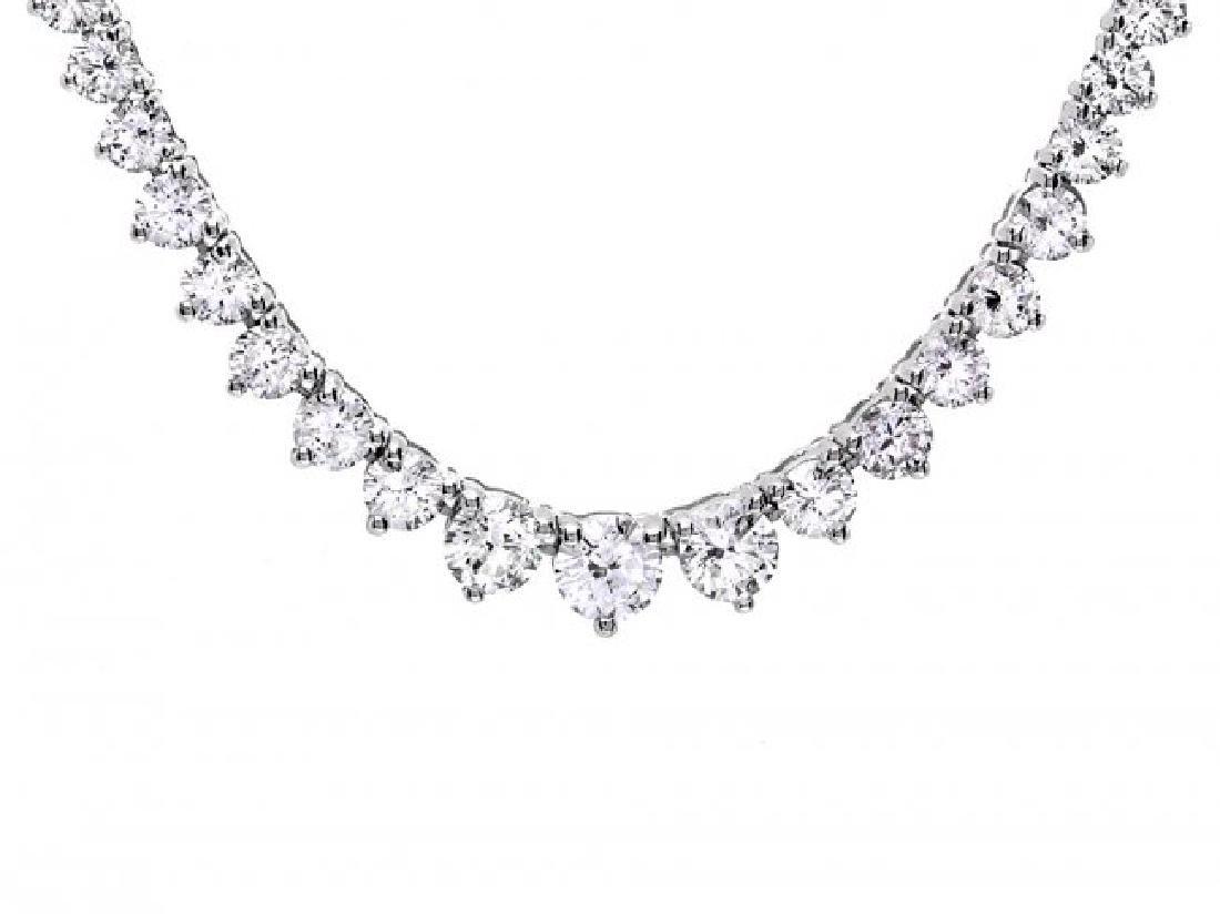 18k White Gold 7.80ct Diamond Necklace - 6