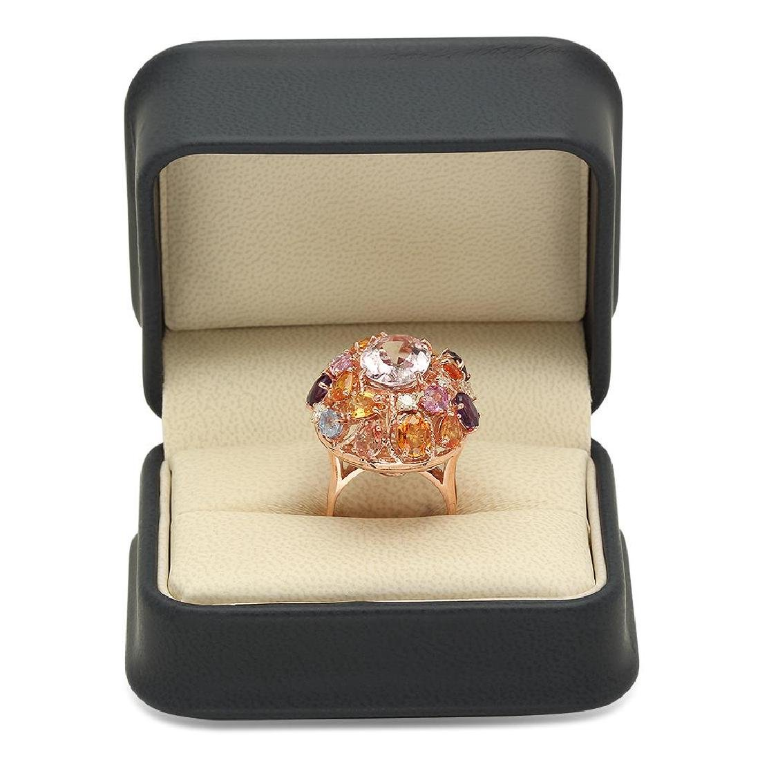 14K Gold 7.32ct Morganite 5.96ct Amethyst, Sapphire - 4