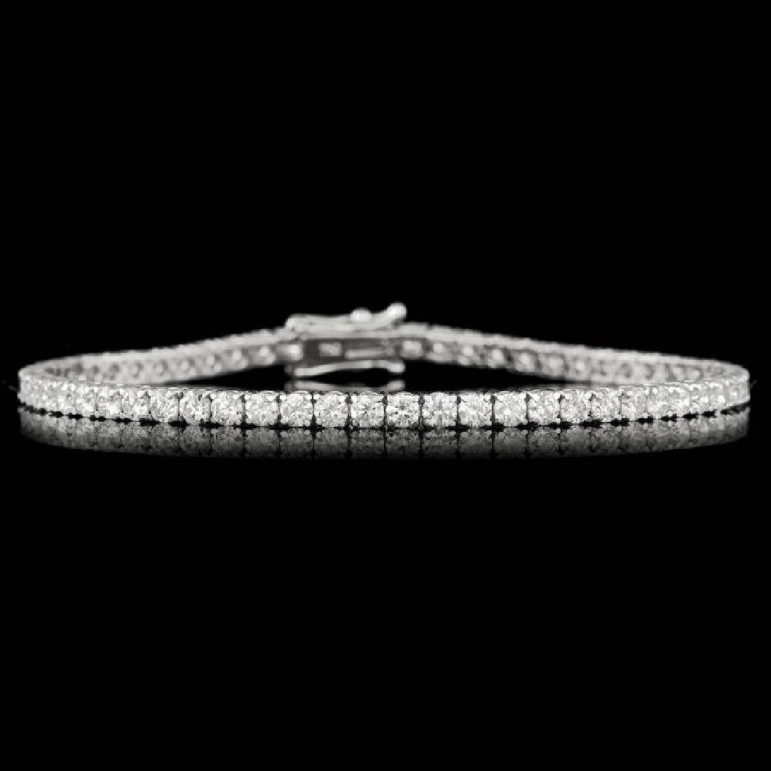 18k White Gold 5.30ct Diamond Bracelet