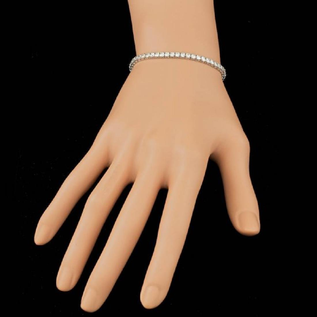 18k White Gold 5.30ct Diamond Bracelet - 5