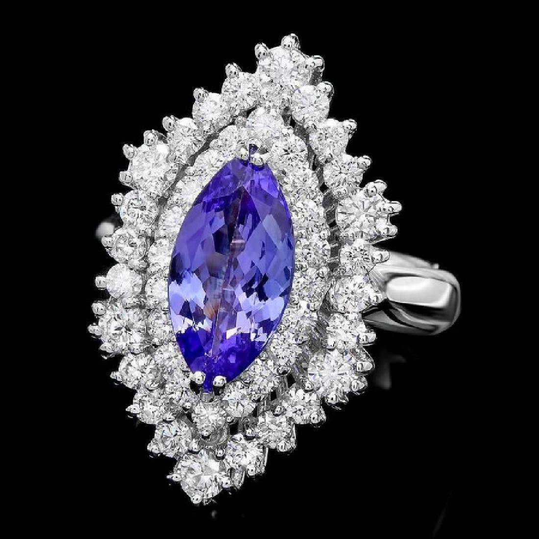 14k Gold 2.00ct Tanzanite 1.50ct Diamond Ring