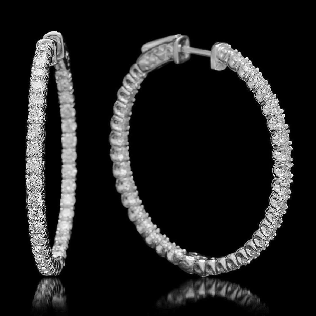 14K Gold 2.52ct Diamond Earrings