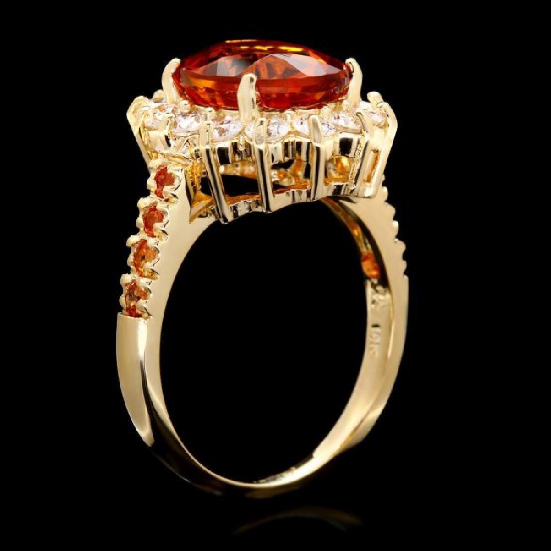 14k Gold 3.50ct Citrine 1.00ct Diamond Ring - 3