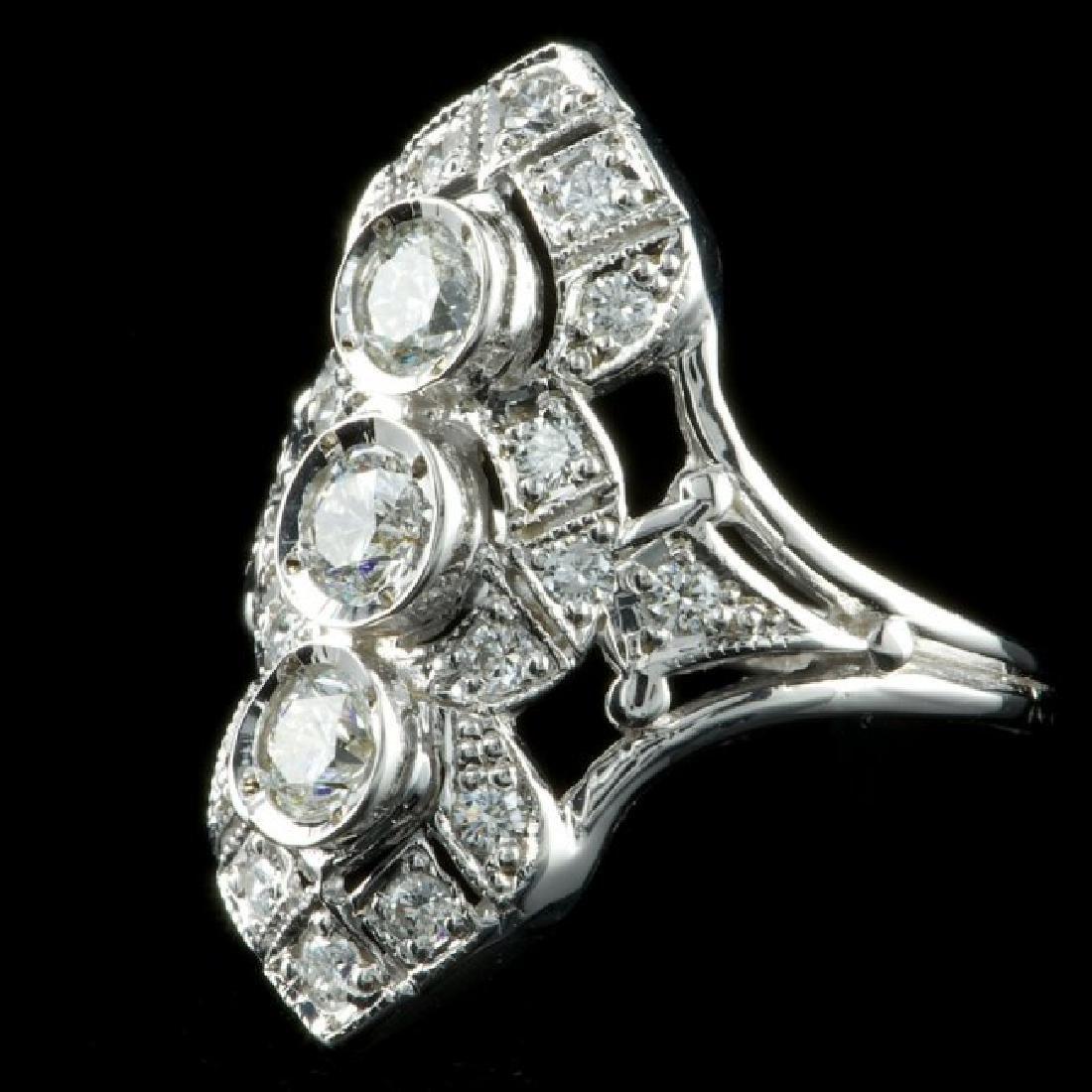 14k White Gold 1.50ct Diamond Ring - 2