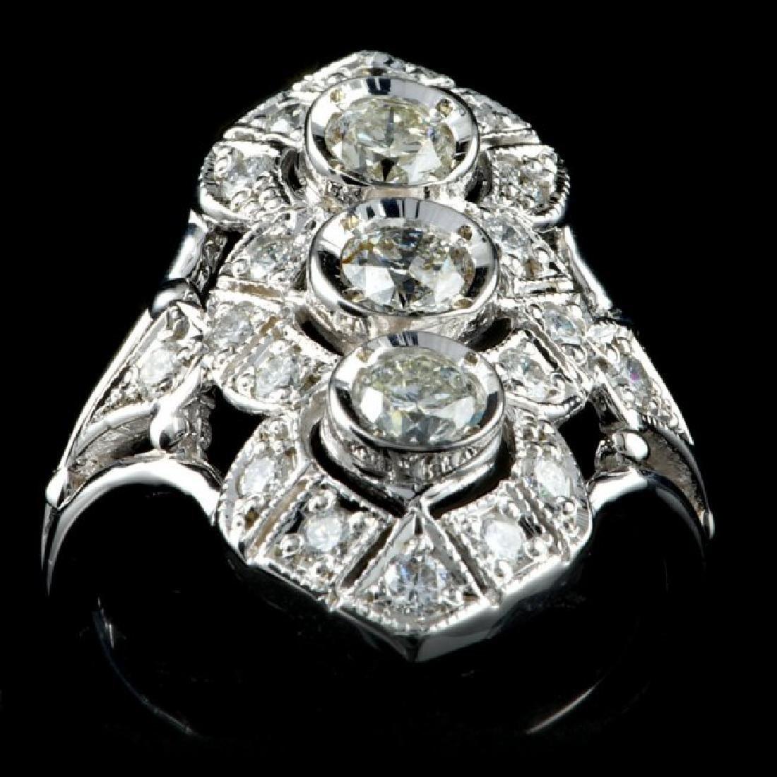 14k White Gold 1.50ct Diamond Ring - 3