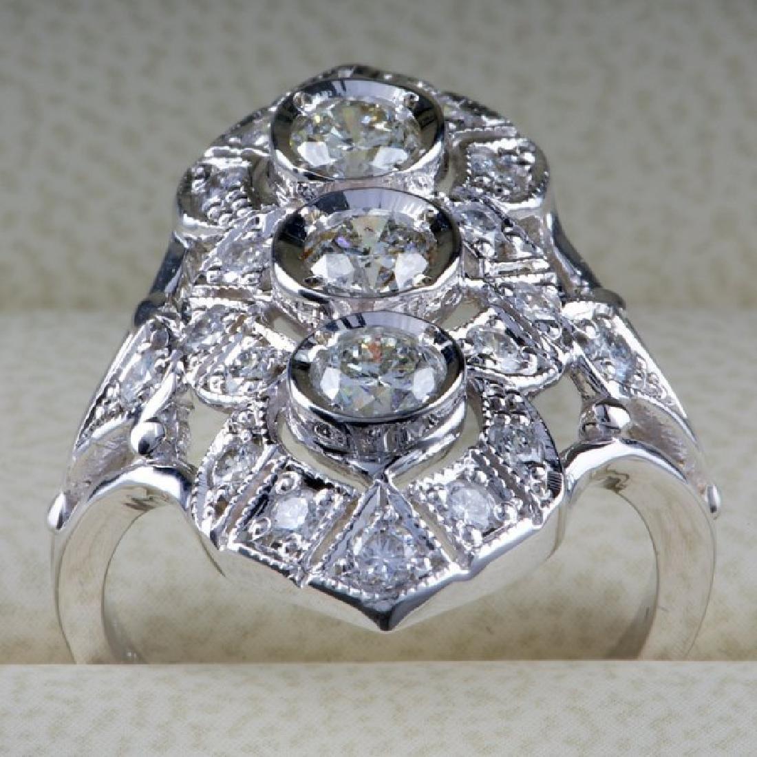 14k White Gold 1.50ct Diamond Ring - 4
