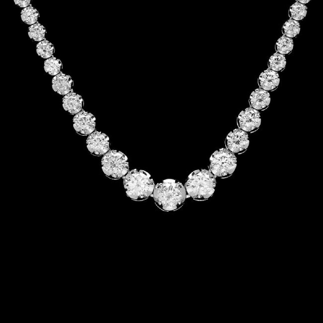 18k White Gold 11.60ct Diamond Necklace
