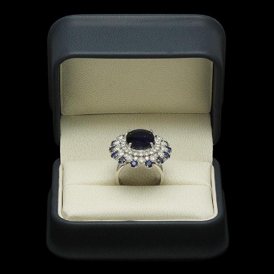 14K Gold 9.97ct Sapphire 2.31ct Diamond Ring - 3