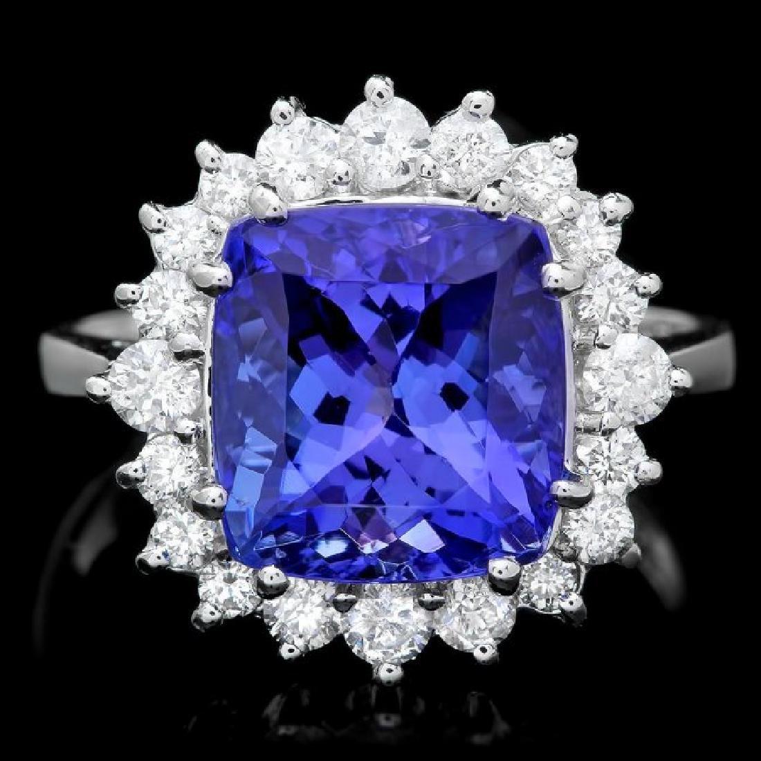 14k Gold 6.00ct Tanzanite 0.70ct Diamond Ring