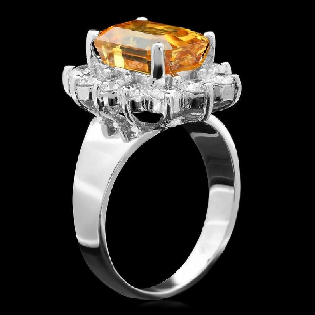 18k Gold 6.50ct Sapphire 1.30ct Diamond Ring - 2