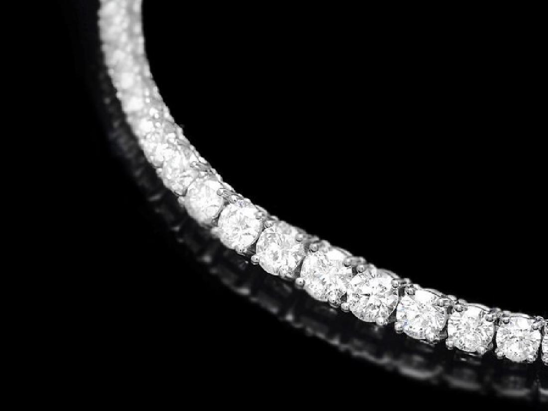 18k White Gold 6.00ct Diamond Necklace - 2