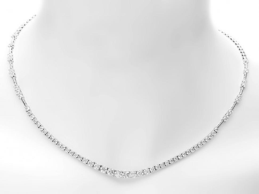 18k White Gold 6.00ct Diamond Necklace - 5
