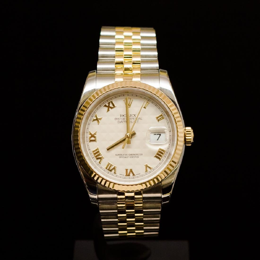 Rolex Two-Tone DateJust 36mm F Serial Men's Wristwatch