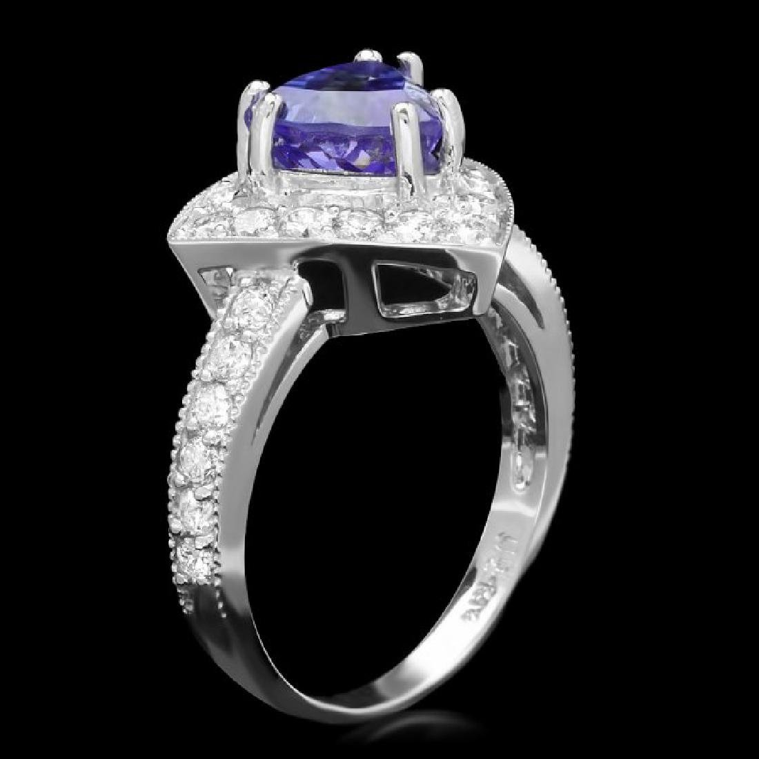 14k Gold 2.00ct Tanzanite 1.00ct Diamond Ring - 2