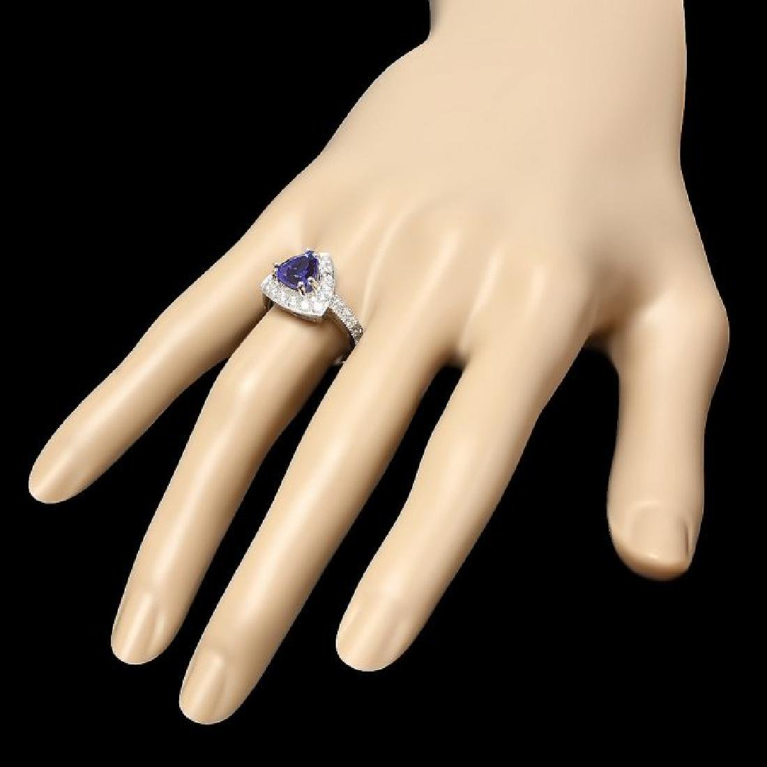 14k Gold 2.00ct Tanzanite 1.00ct Diamond Ring - 3