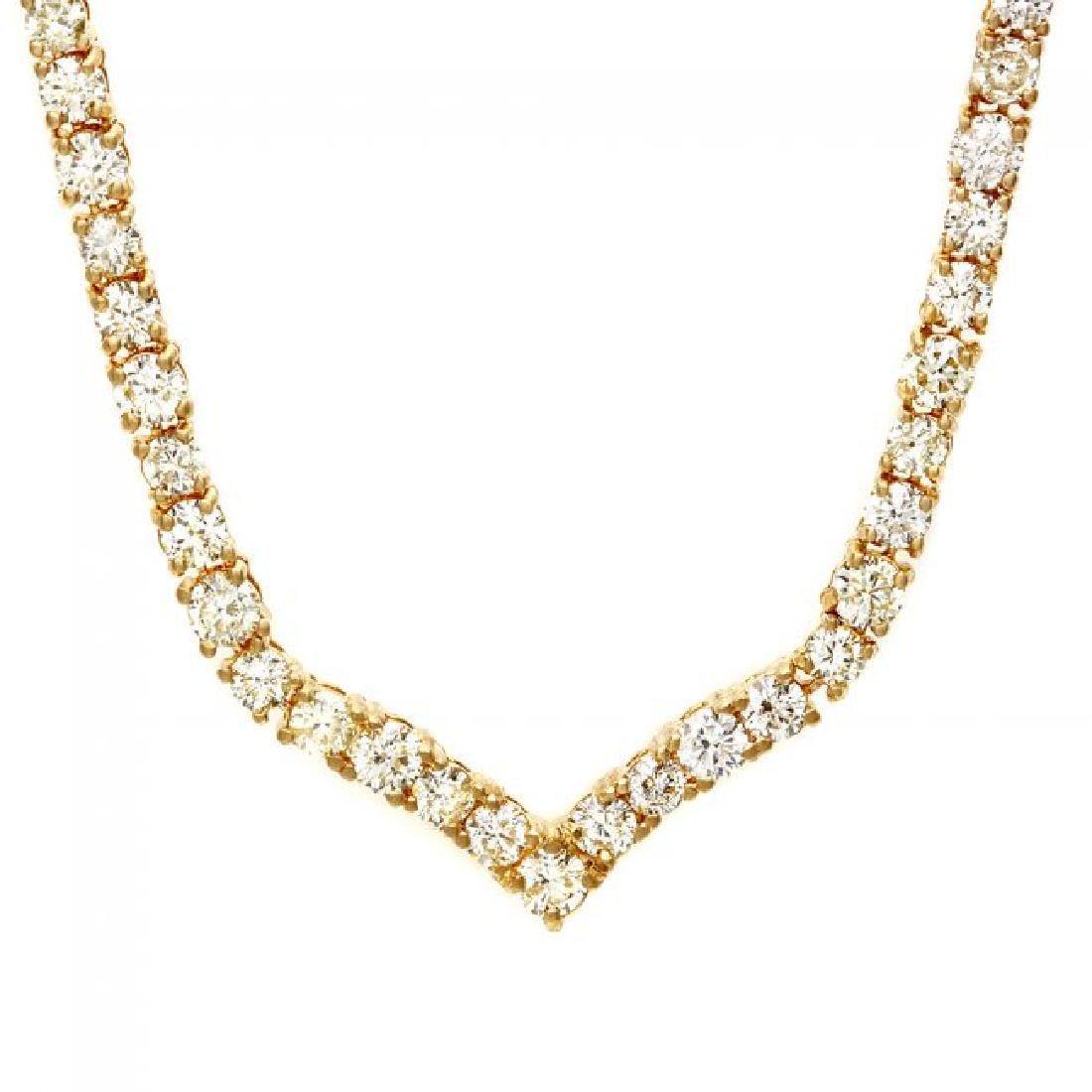18k Yellow Gold 8.50ct Diamond Necklace - 6