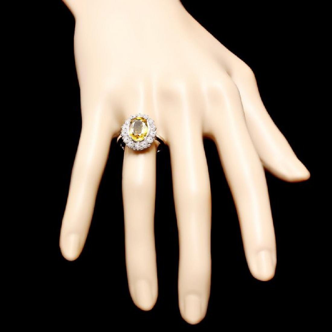 14k Gold 3.40ct Sapphire 1.10ct Diamond Ring - 4
