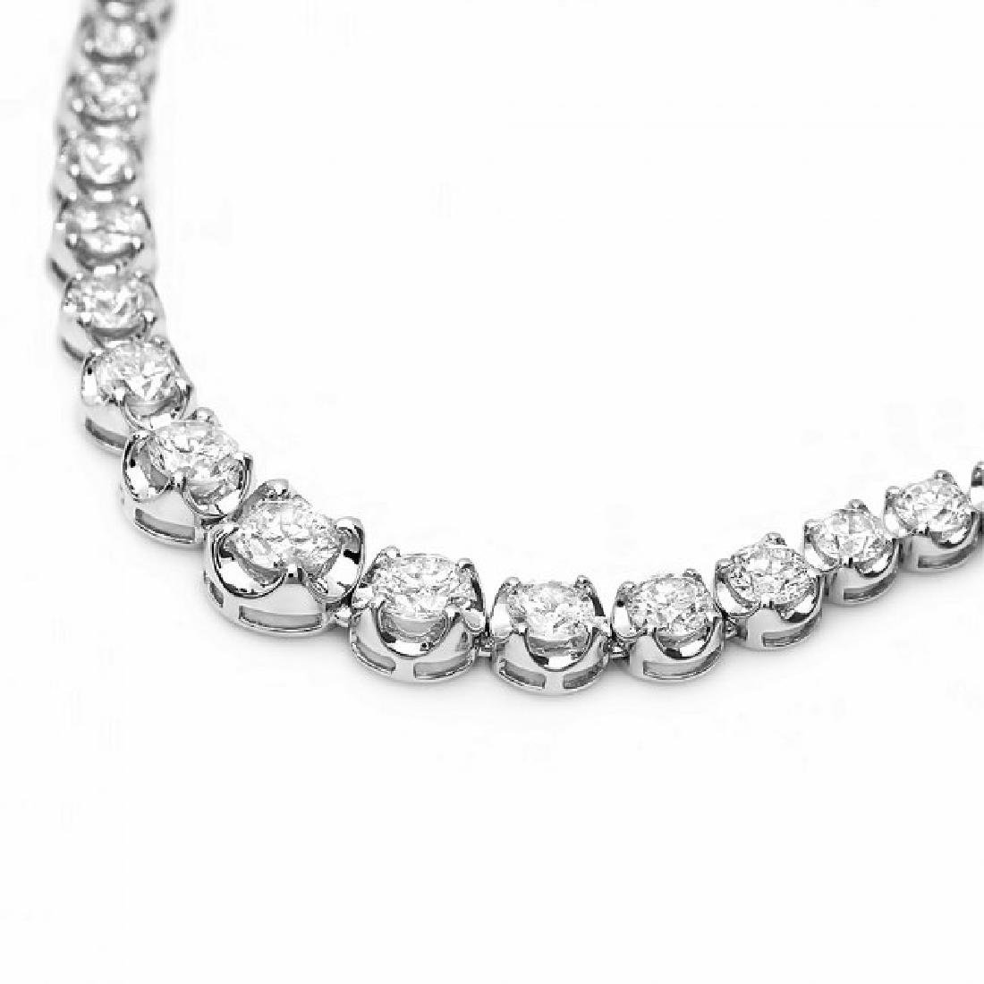 18k White Gold 6.50ct Diamond Necklace - 5