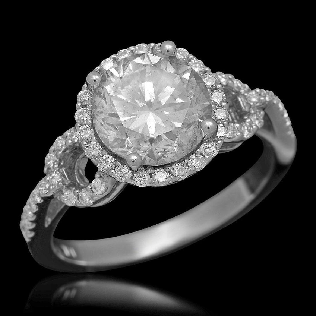 14K Gold 2.73ct Diamond Ring