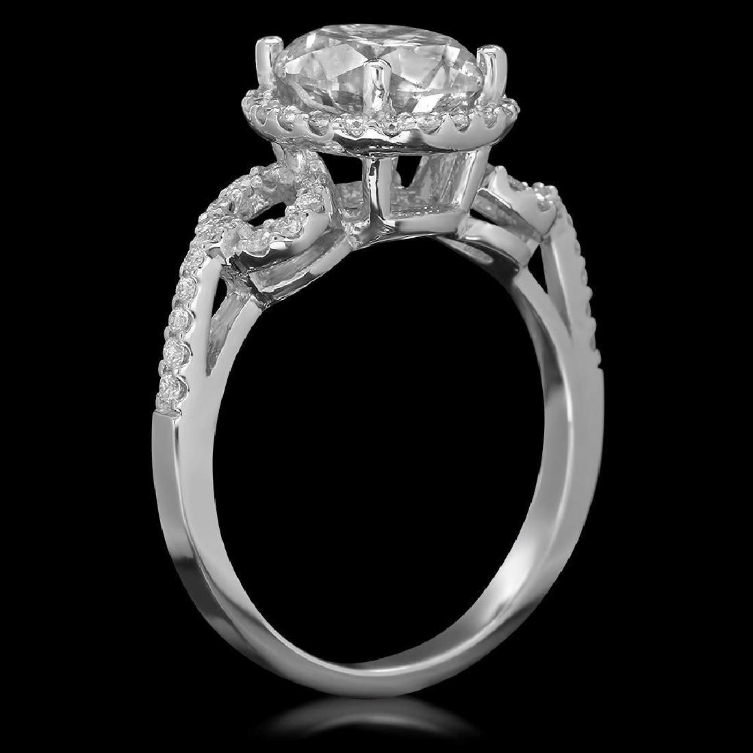14K Gold 2.73ct Diamond Ring - 2