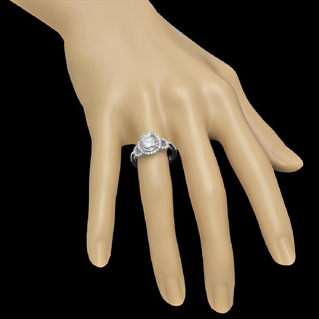 14K Gold 2.73ct Diamond Ring - 3
