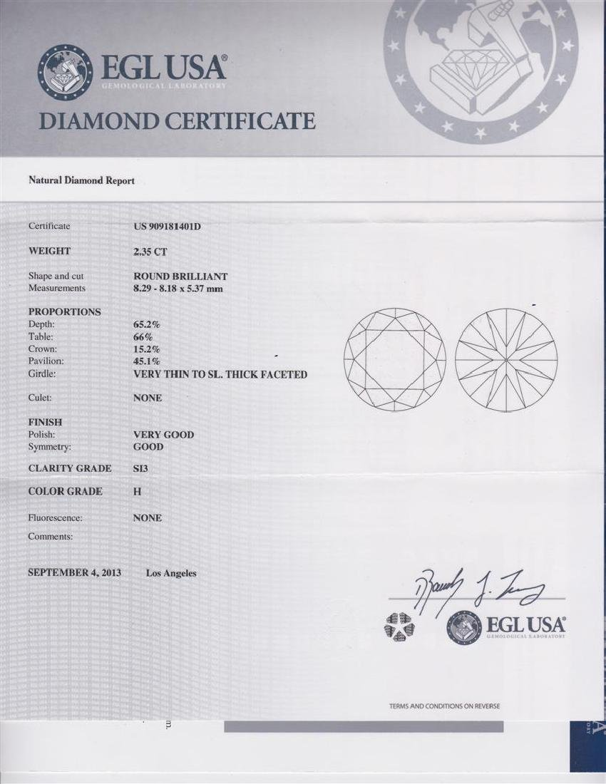 14K Gold 2.73ct Diamond Ring - 5