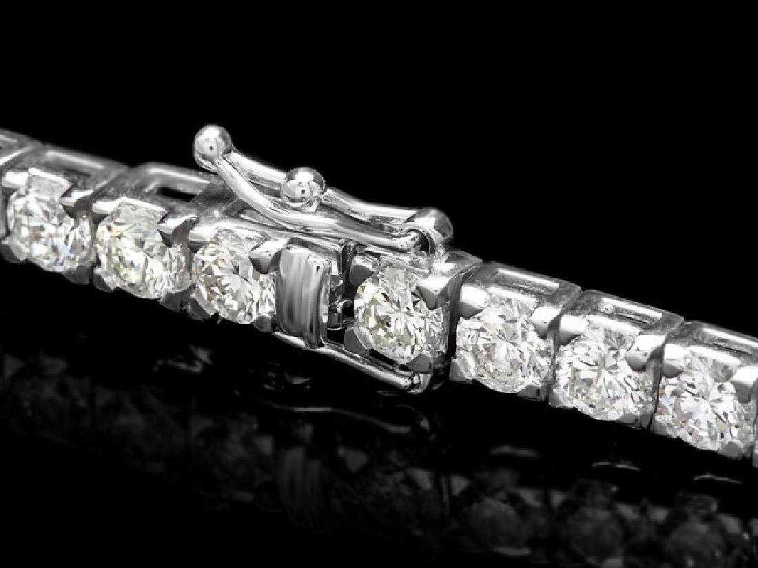 18k White Gold 9.50ct Diamond Tennis Bracelet - 2