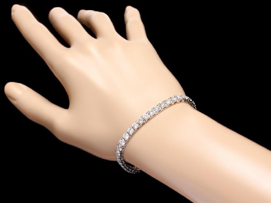 18k White Gold 9.50ct Diamond Tennis Bracelet - 5