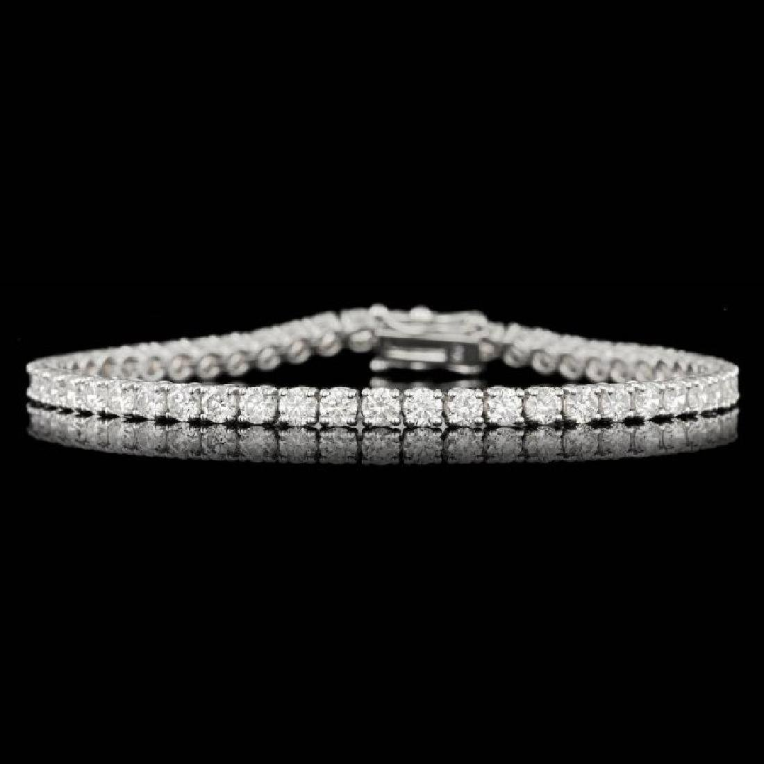 18k White Gold 6.55ct Diamond Bracelet