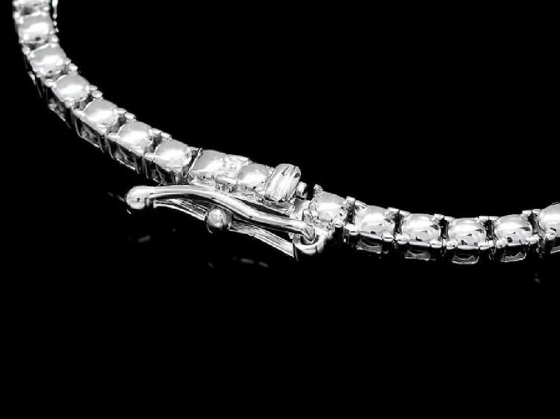 18k Gold 6ct Sapphire 5.00ct Diamond Necklace - 4