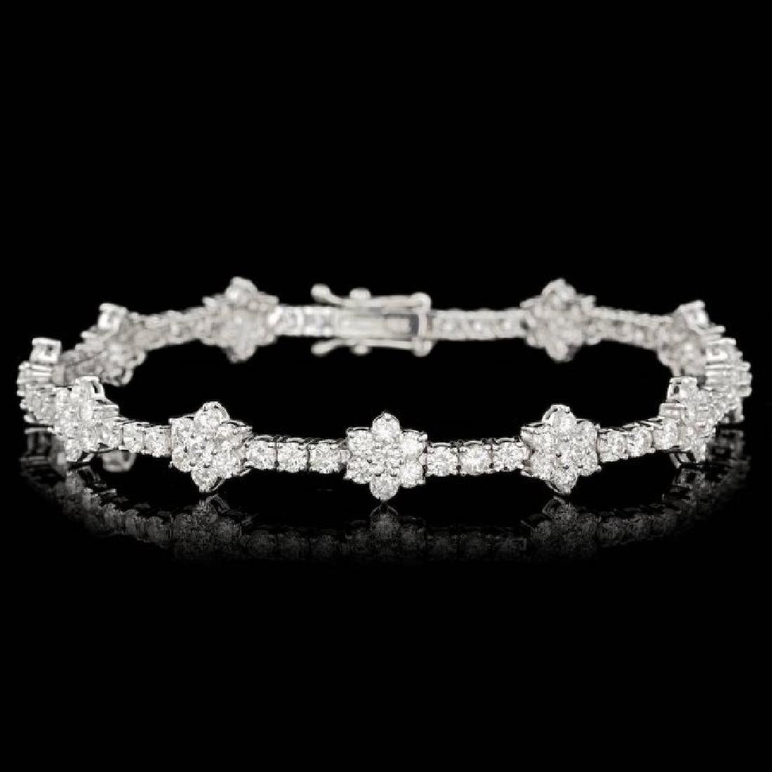 18k White Gold 6.80ct Diamond Bracelet