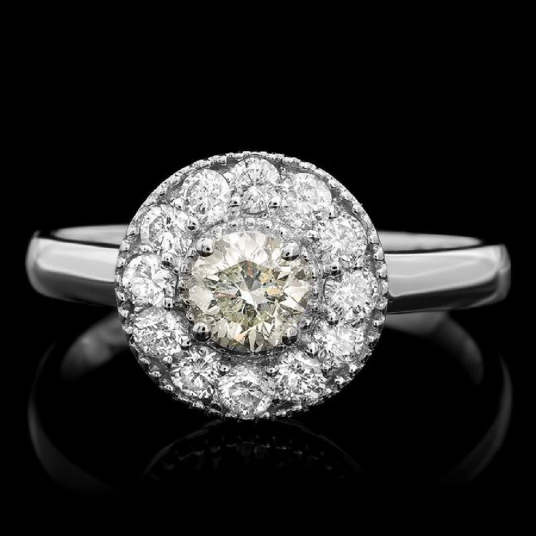 14k White Gold .75ct Diamond Ring
