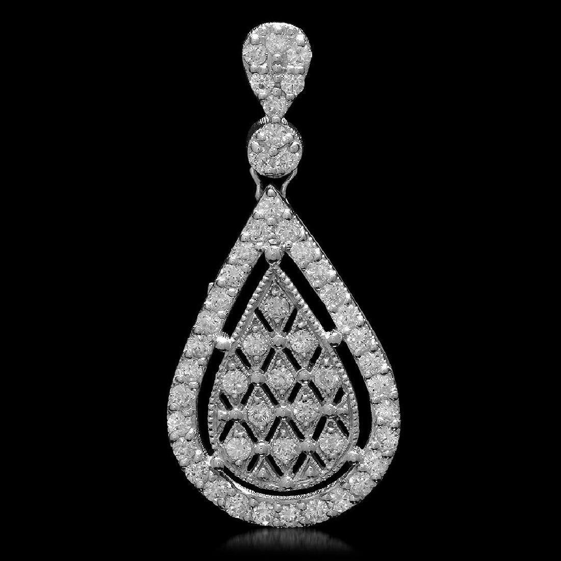 14K Gold 1.35ct Diamond Pendant