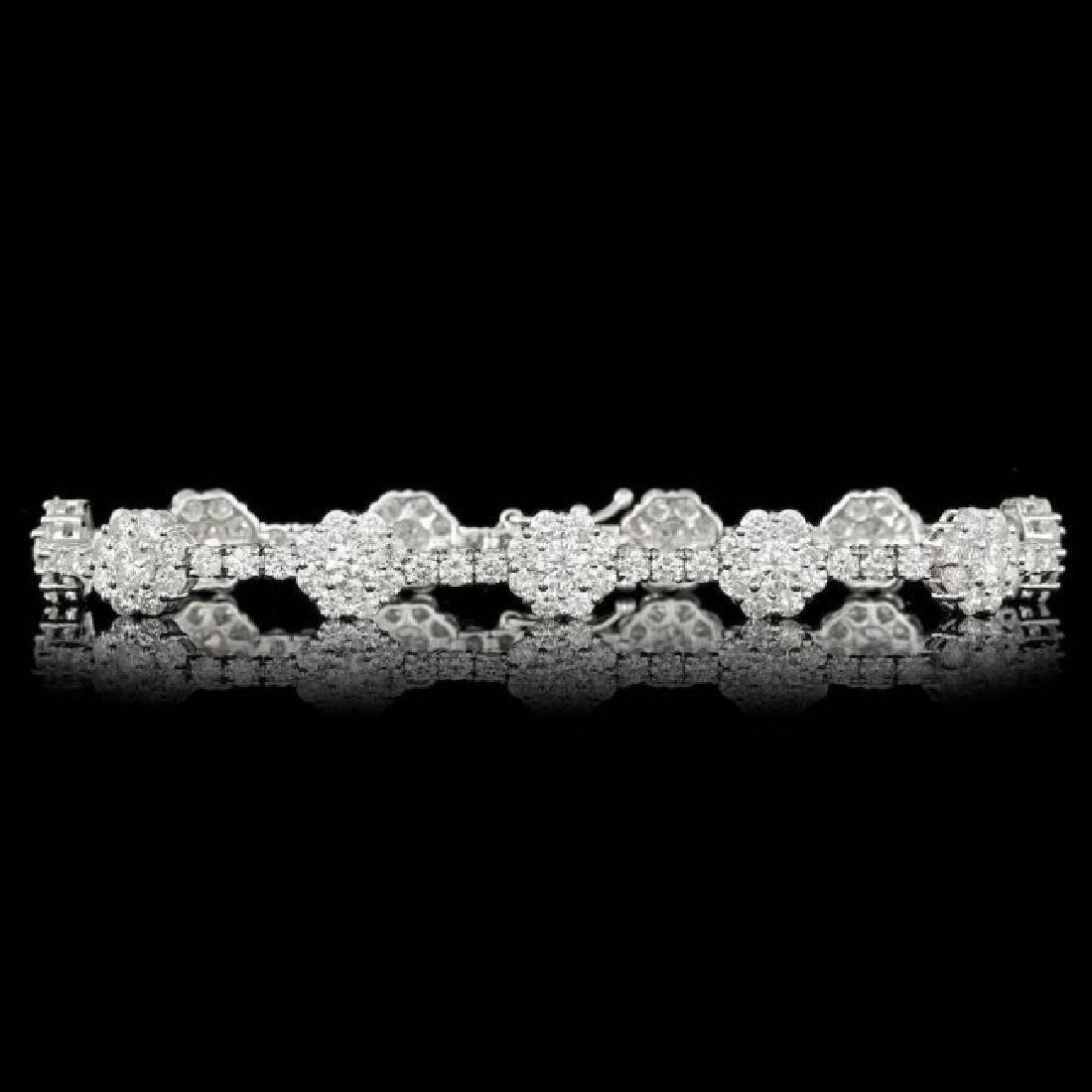 18k White Gold 9.30ct Diamond Bracelet