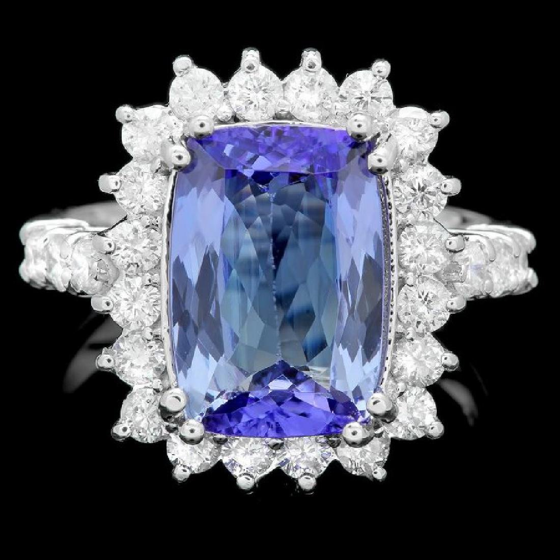 14k Gold 4.00ct Tanzanite 1.10ct Diamond Ring